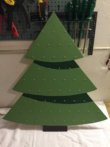 Our x-mas tree with 55 individual controllable RGB LEDs