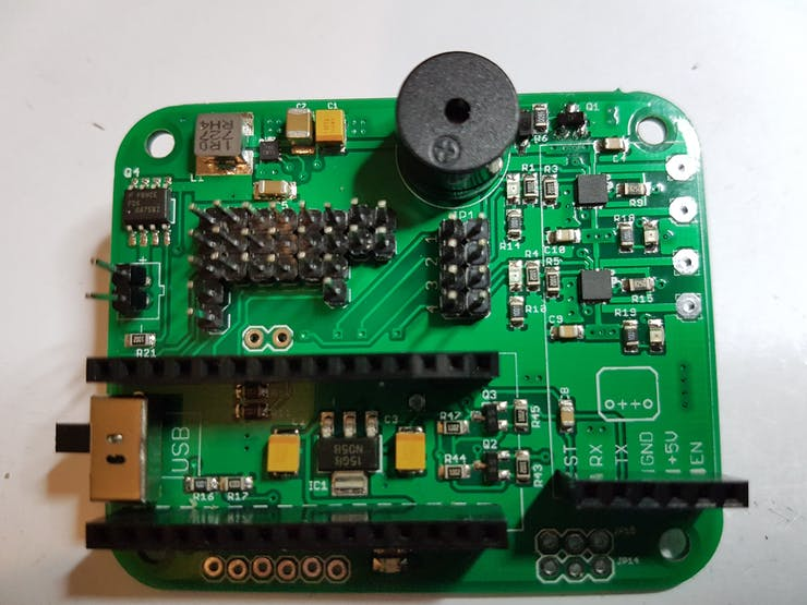 Shield with optional DC motor H-Bridges