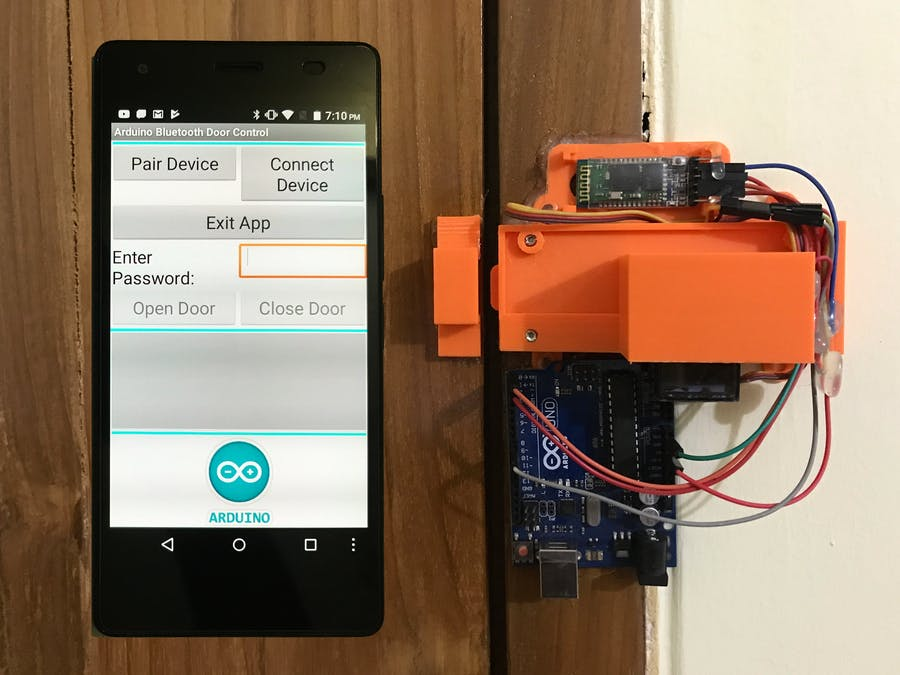 Arduino and Android Based Password Protected Door Lock