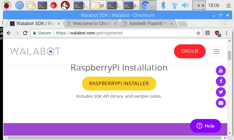 Select the RASPBERRYPI INSTALLER