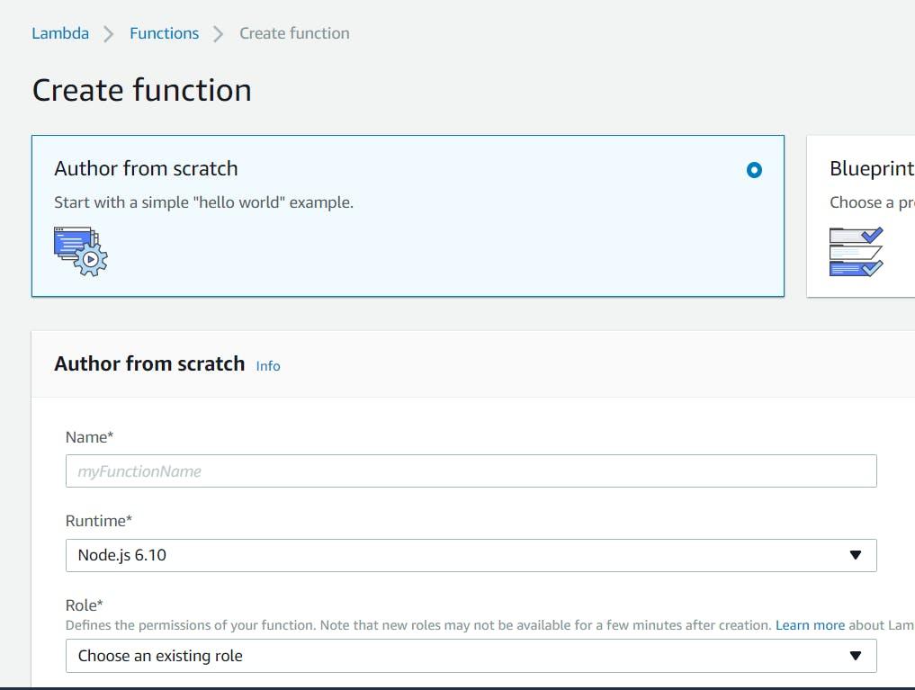 Create function screen / Ventana de crear función