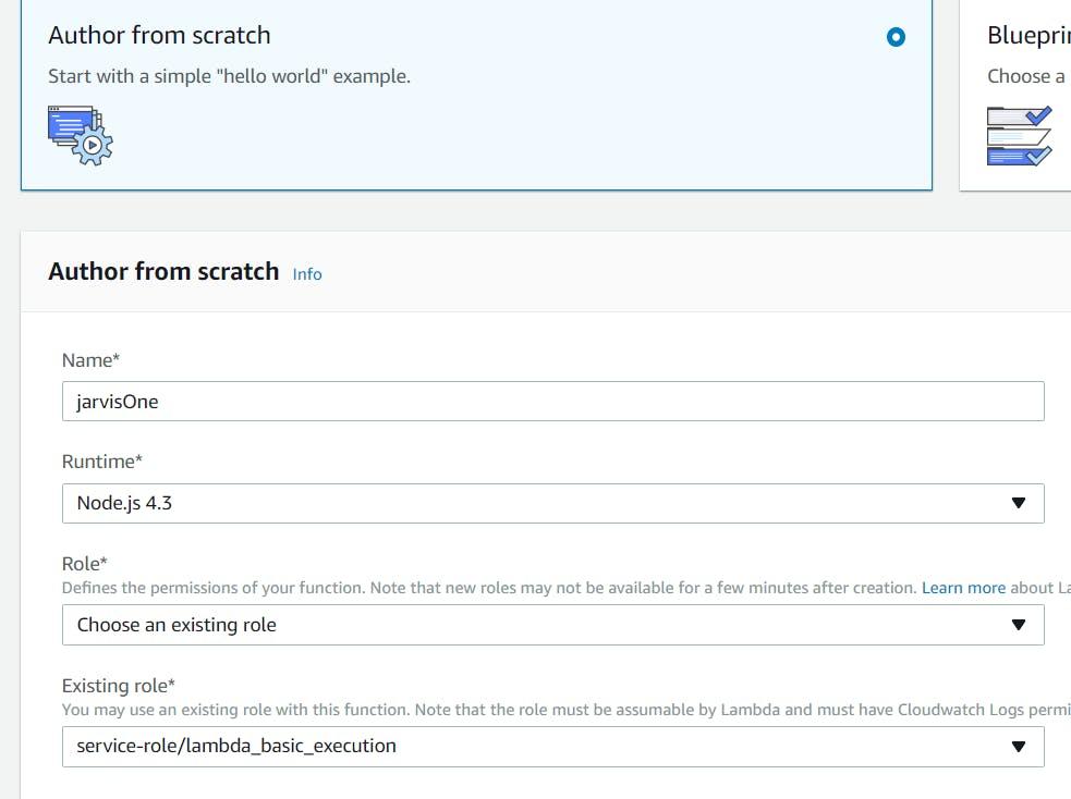 Setting up of Lambda Function / Configuración de la función Lambda