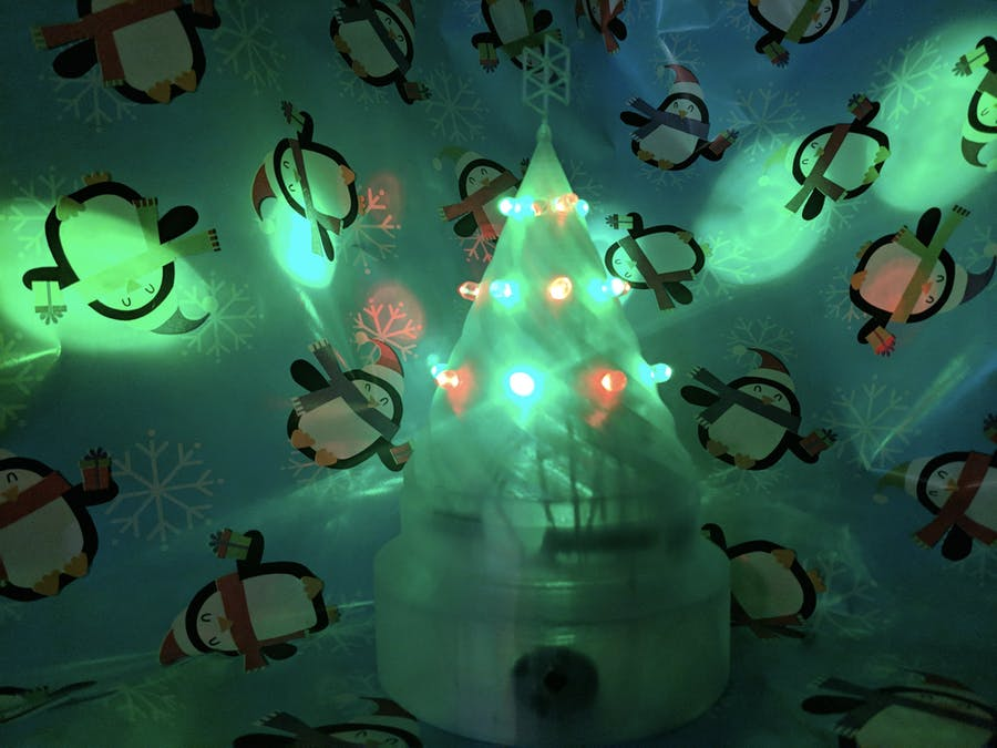 Holo-day Text a Jingle Christmas Tree