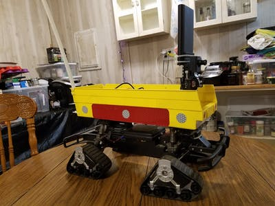 Walabot Security Robot with Alexa Command and Control