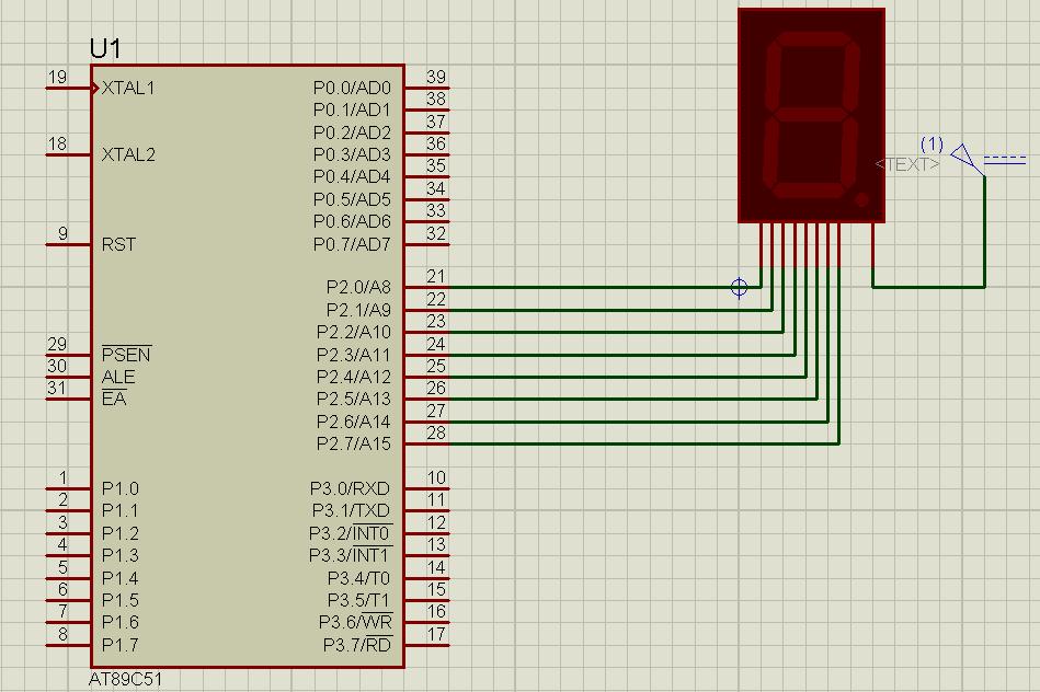 Interfacing 8051 Microcontroller With 7 Segment Display Hackster Io Diagram Of Power Circuit 89c51