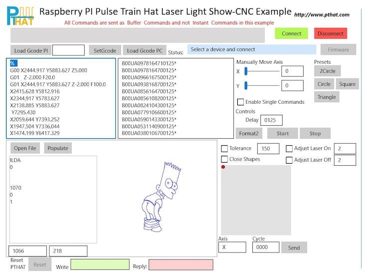 Pulse Train HAT Controlling Laser Light Show Raspberry Pi