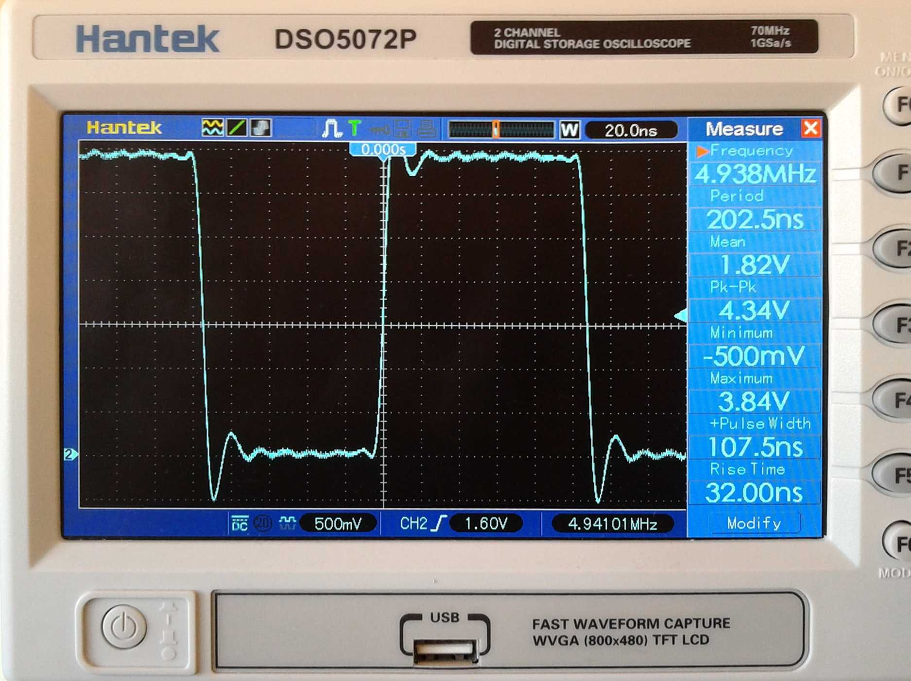 5MHz, square wave only