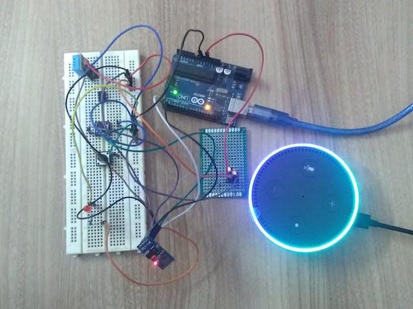 Smart switch using arduino and alexa project hub