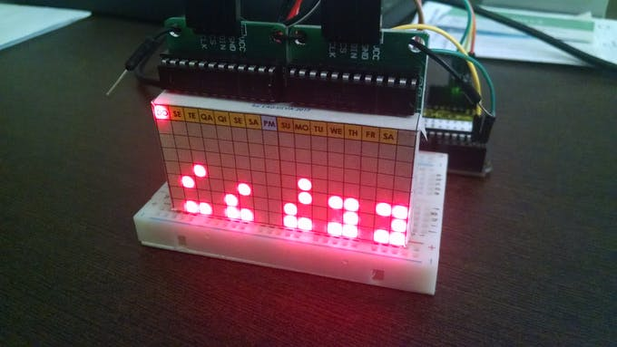 Binary Clock (Date & Time - 24hs mode)