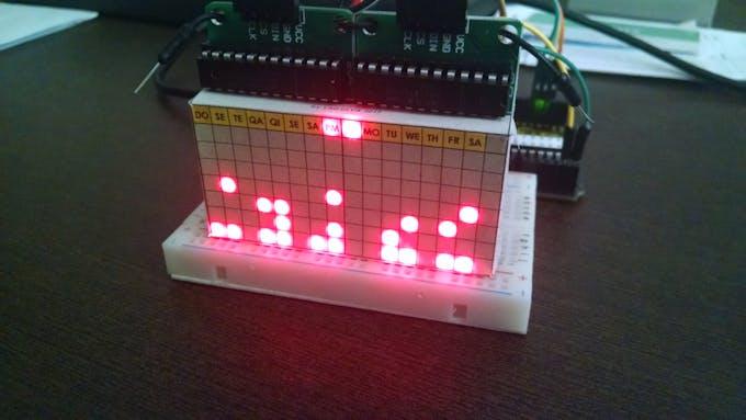 Binary Clock (Time & Date - AM-PM mode)