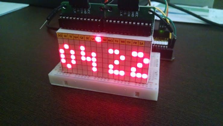 Time (AM-PM mode) and Stylish Font