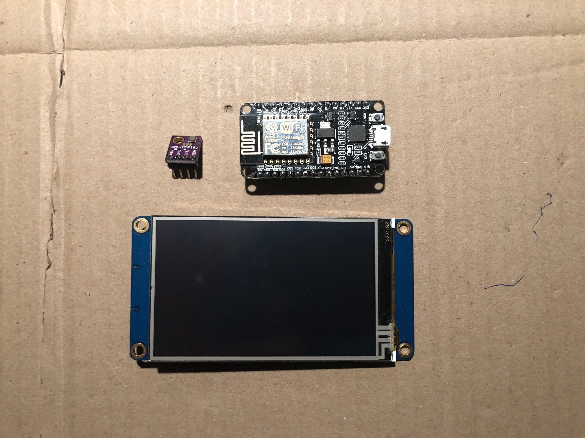 NodeMCU, BME280 and Nextion display