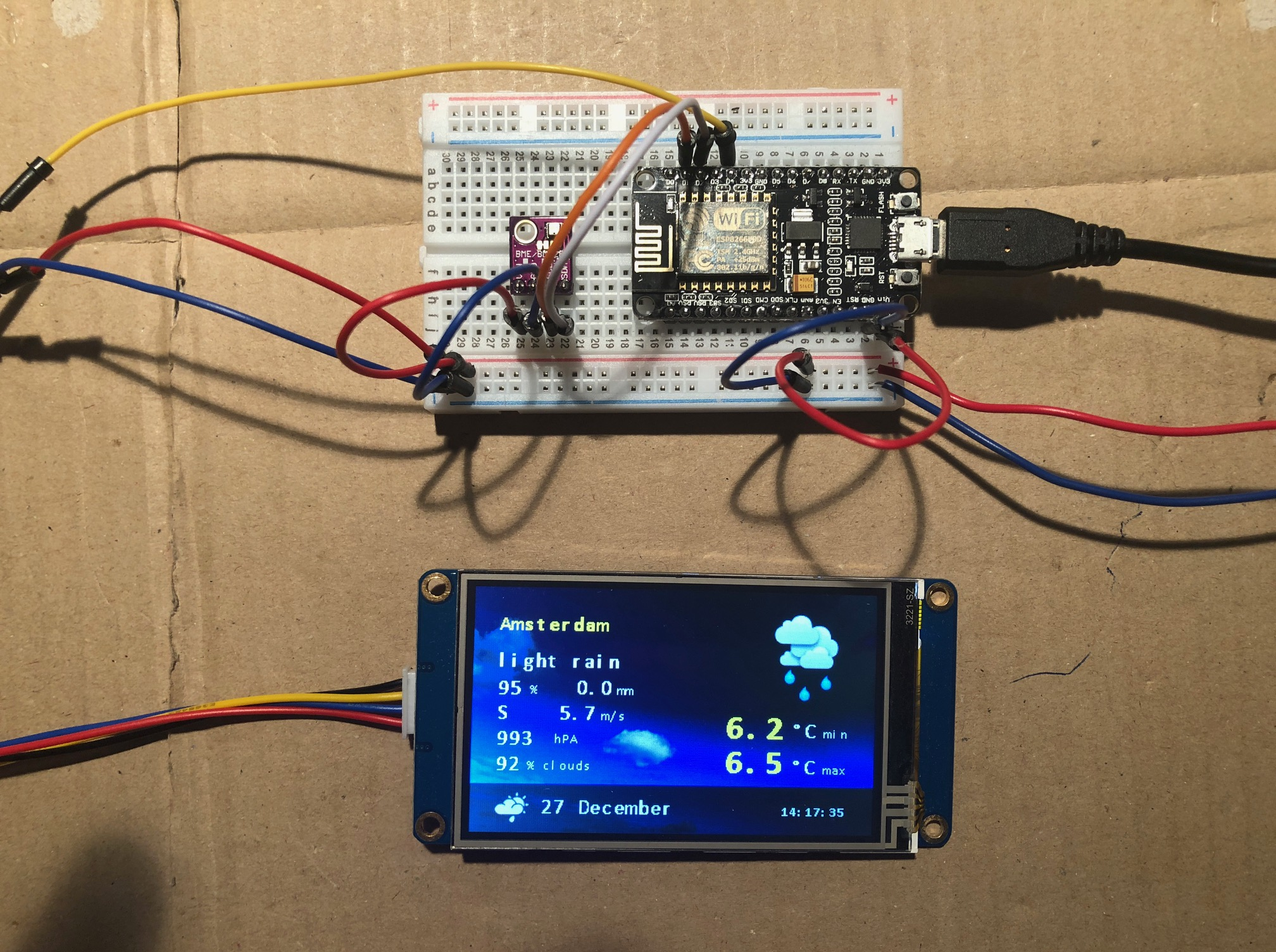 NodeMCU and Nextion Weather (Forecast) Station - Hackster io