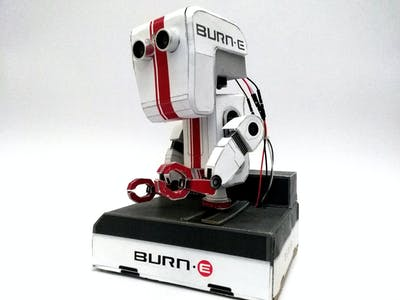 Burn-E Paper Craft Robot