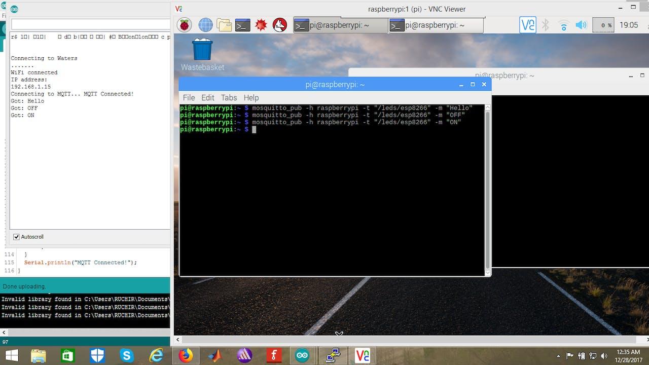 Raspberry Pi Talking to ESP8266 Using MQTT - Hackster io