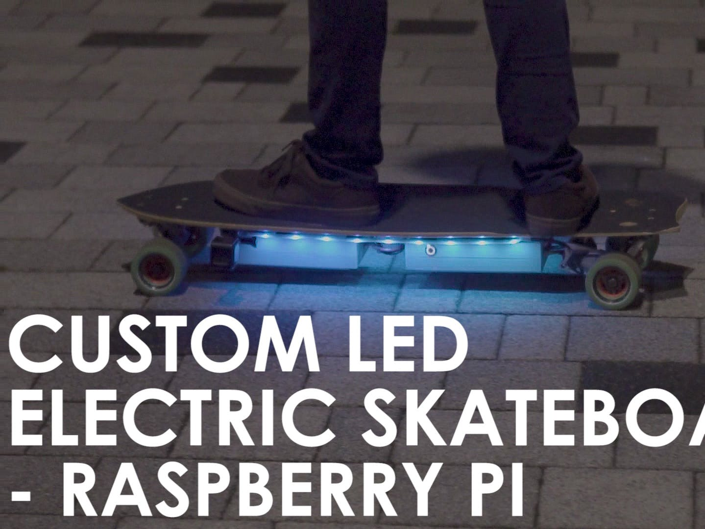 Custom LED Lights on DIY Electric Skateboard - Raspberry Pi