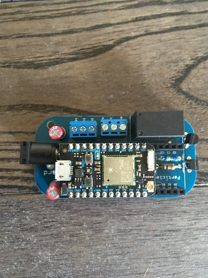 Particle Input Relay Shield
