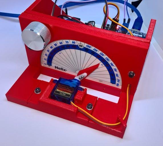 Front view of servo calibrator