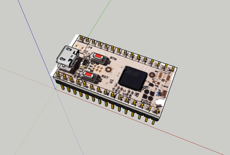 Sketchup home made design of Z-uno board