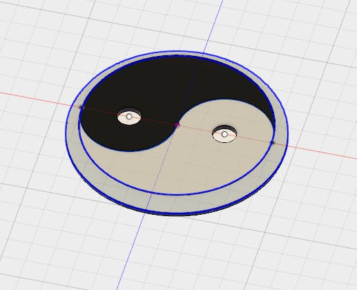 Fusion 360 design. It's a great software, but I draw faster on Sketchup !