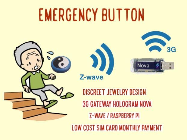 Emergency Button with Z-wave - 3G Nova Gateway
