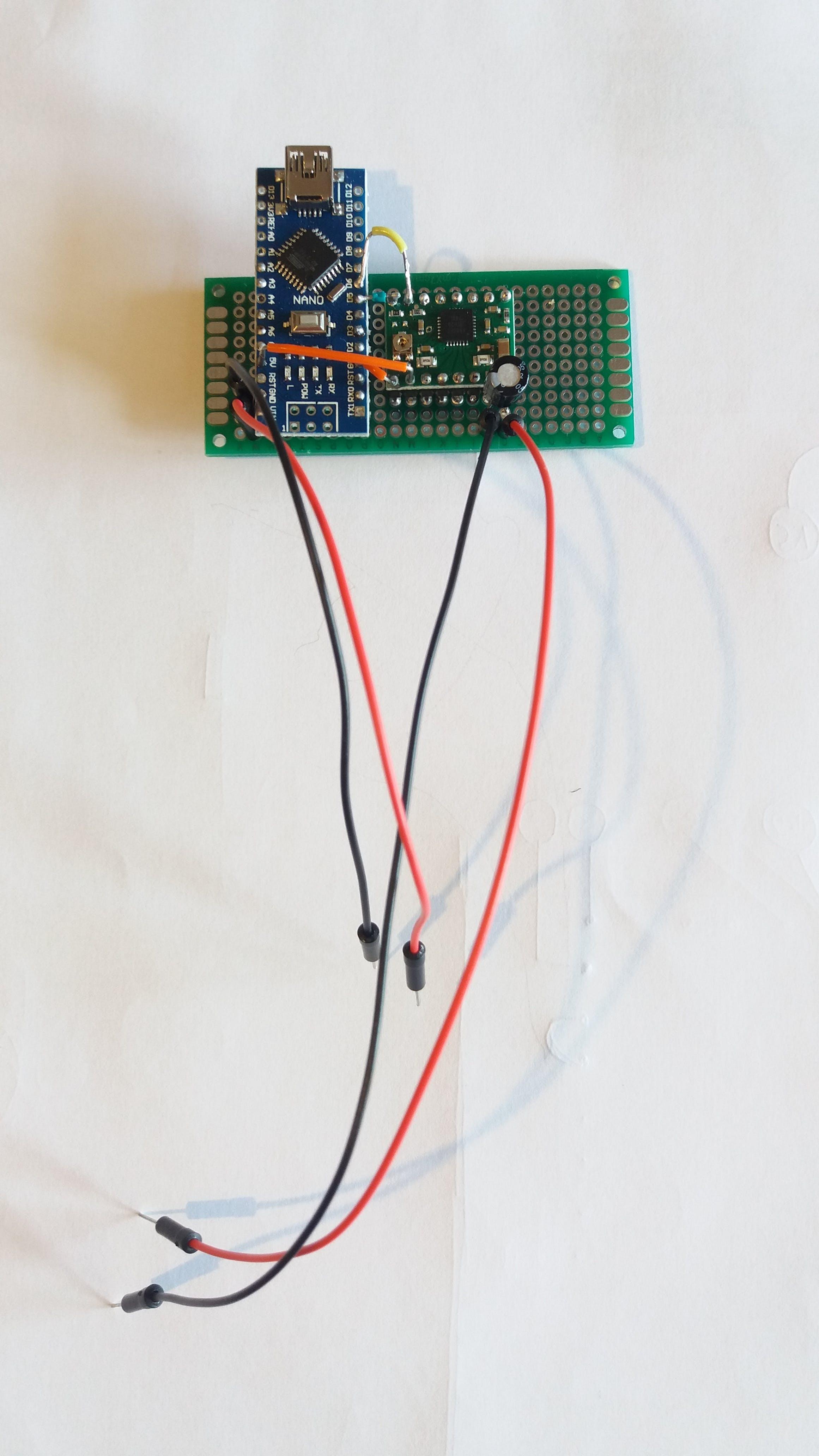 Circuit, work in progress (bridge between Sleep and Reset missing).