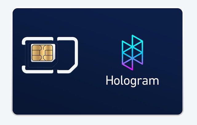Photo credit: Picture taken from hologram.io
