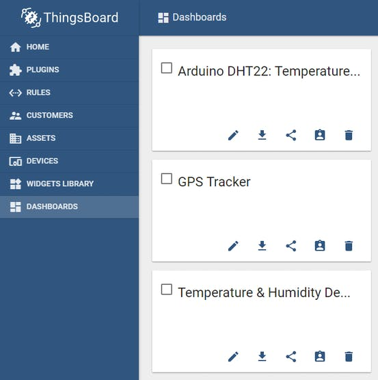 "Click the ""Dashboards"" tab and click your device tile to view its dashboard!"
