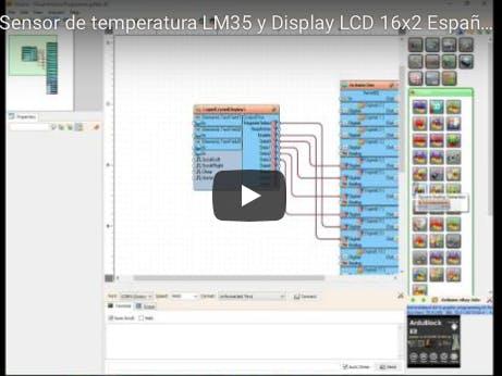 Visuino - Sensor of Temperature Using LM35 and Display LCD 1