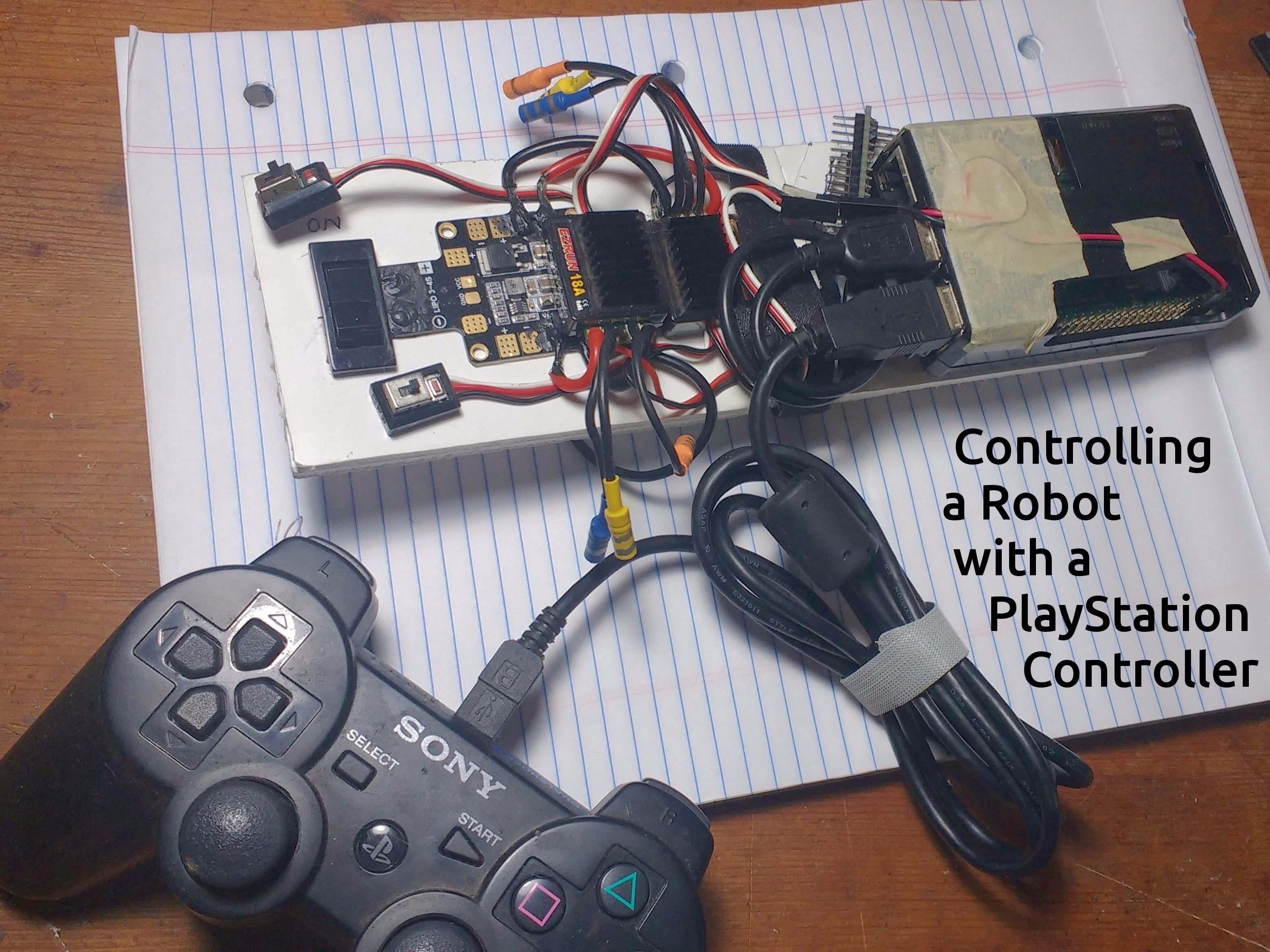 Controlling a Robot with a PlayStation Controller