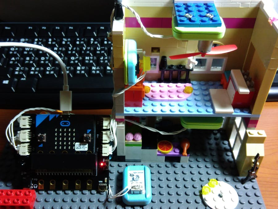 Micro:bit Smart Home - light, fan and alarm system.