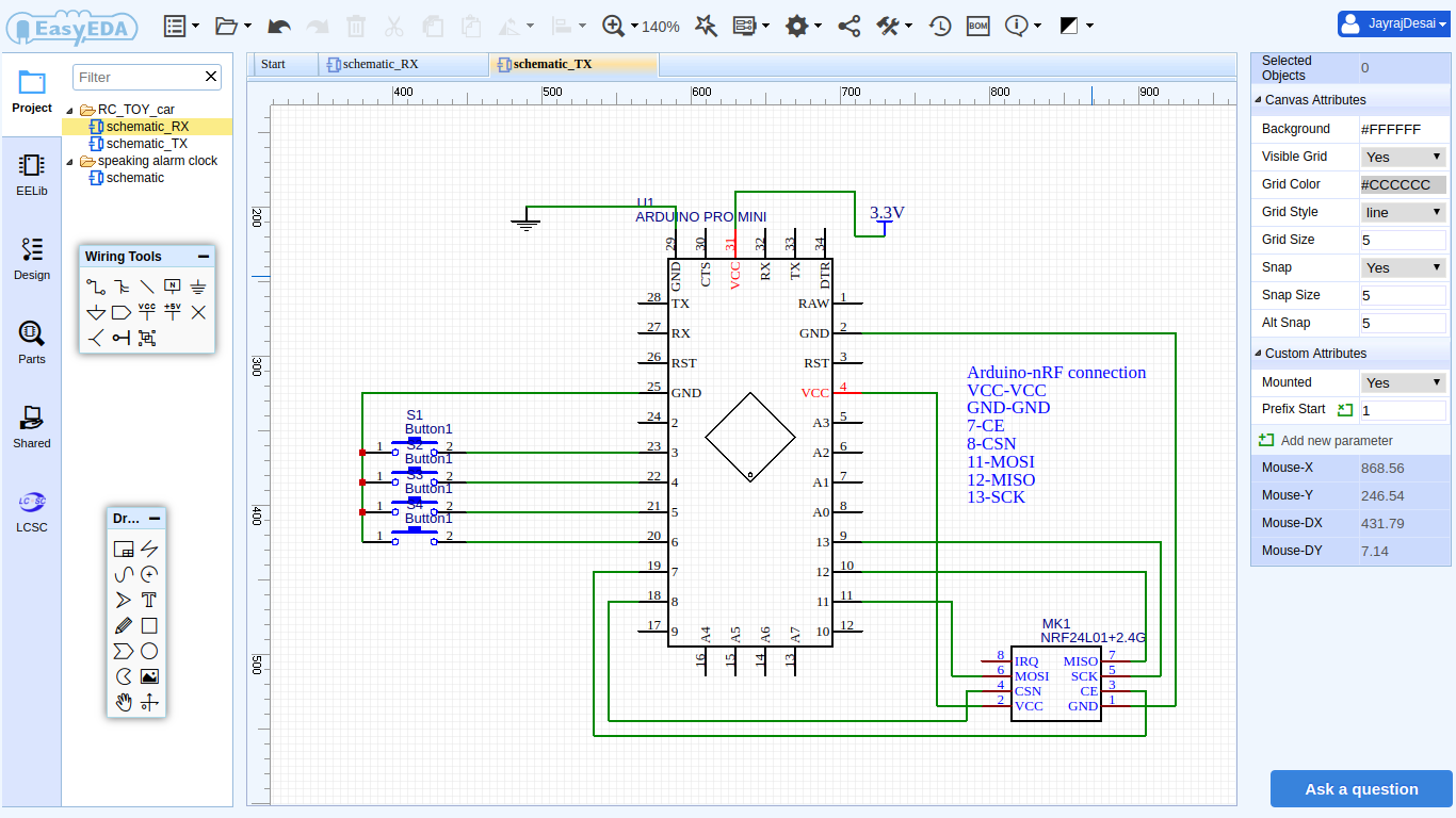 Rc Toy Car Using Nrf24l01 Let S Look At The Schematic Rf Input Directly Connected Over 2 R6hh7pgcao