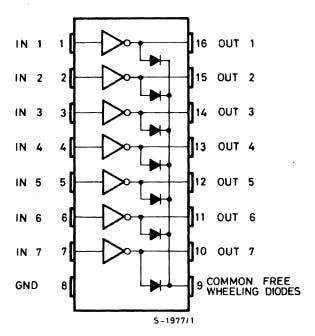 ULN2003a pin configuration