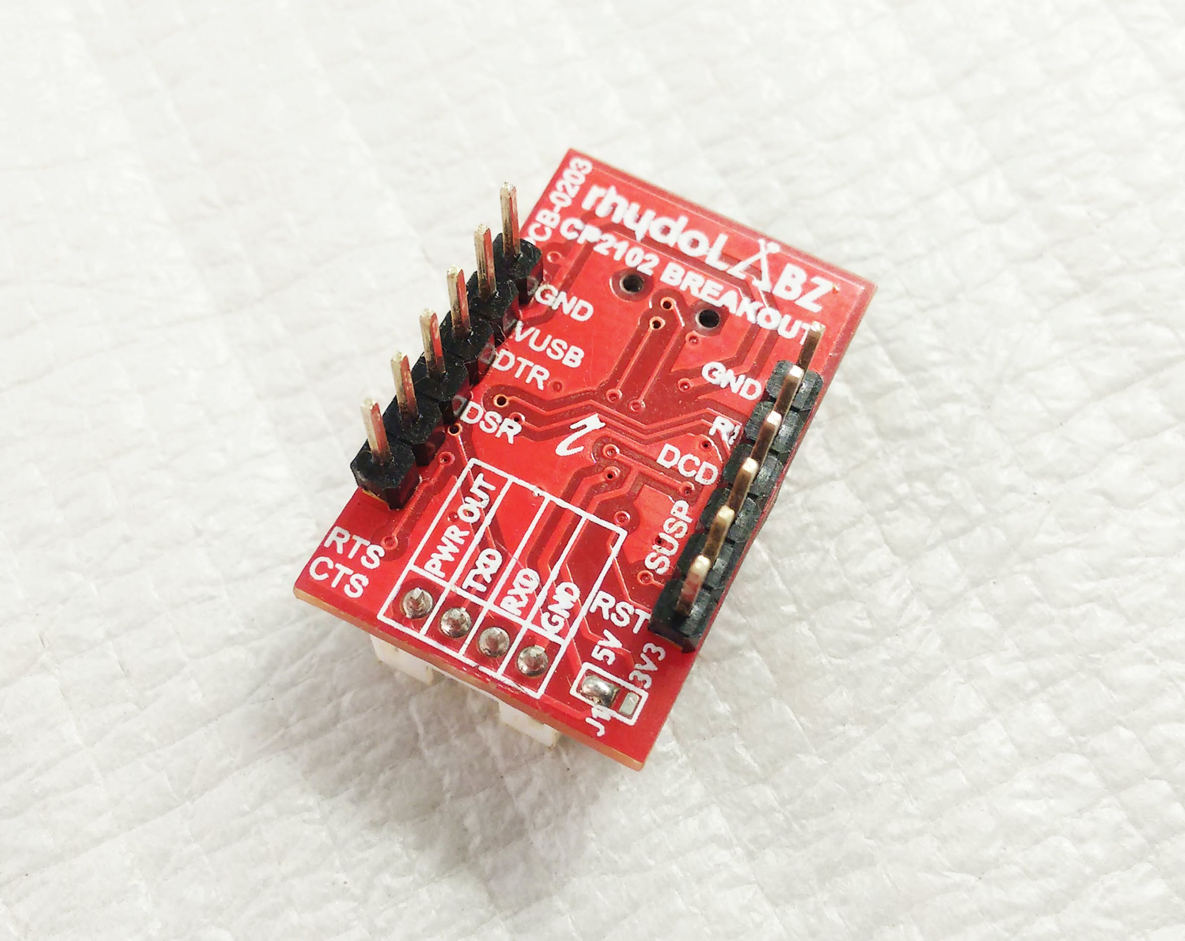 CP21012 USB-to-Serial Breakout from rhydoLabz