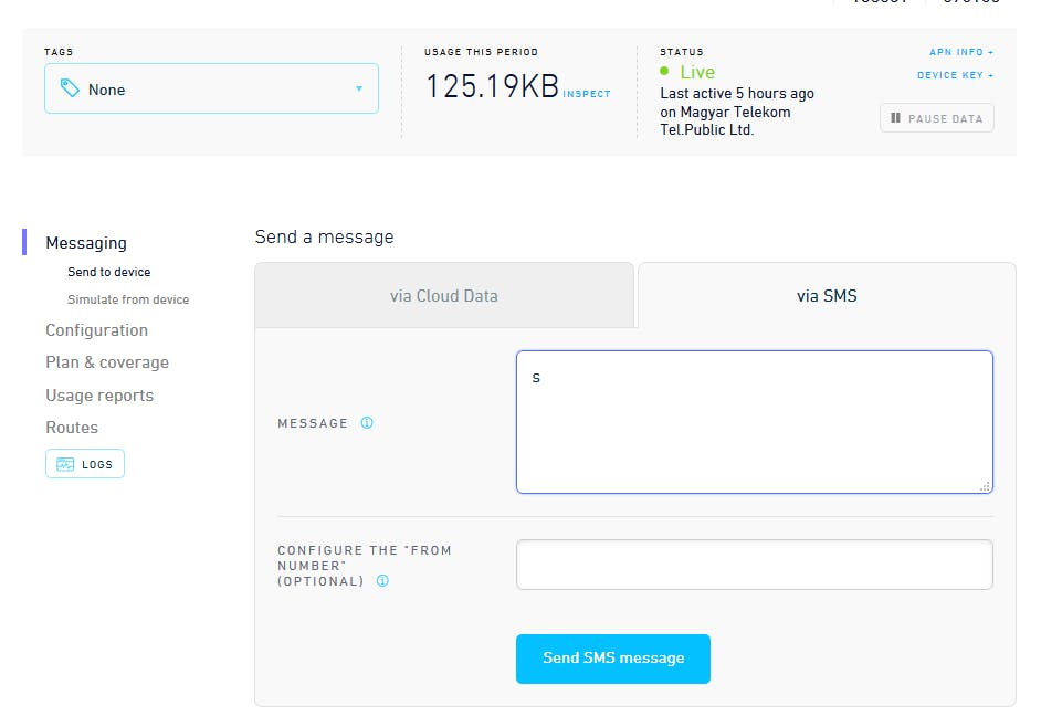 Sending SMS from the Hologram Dashboard