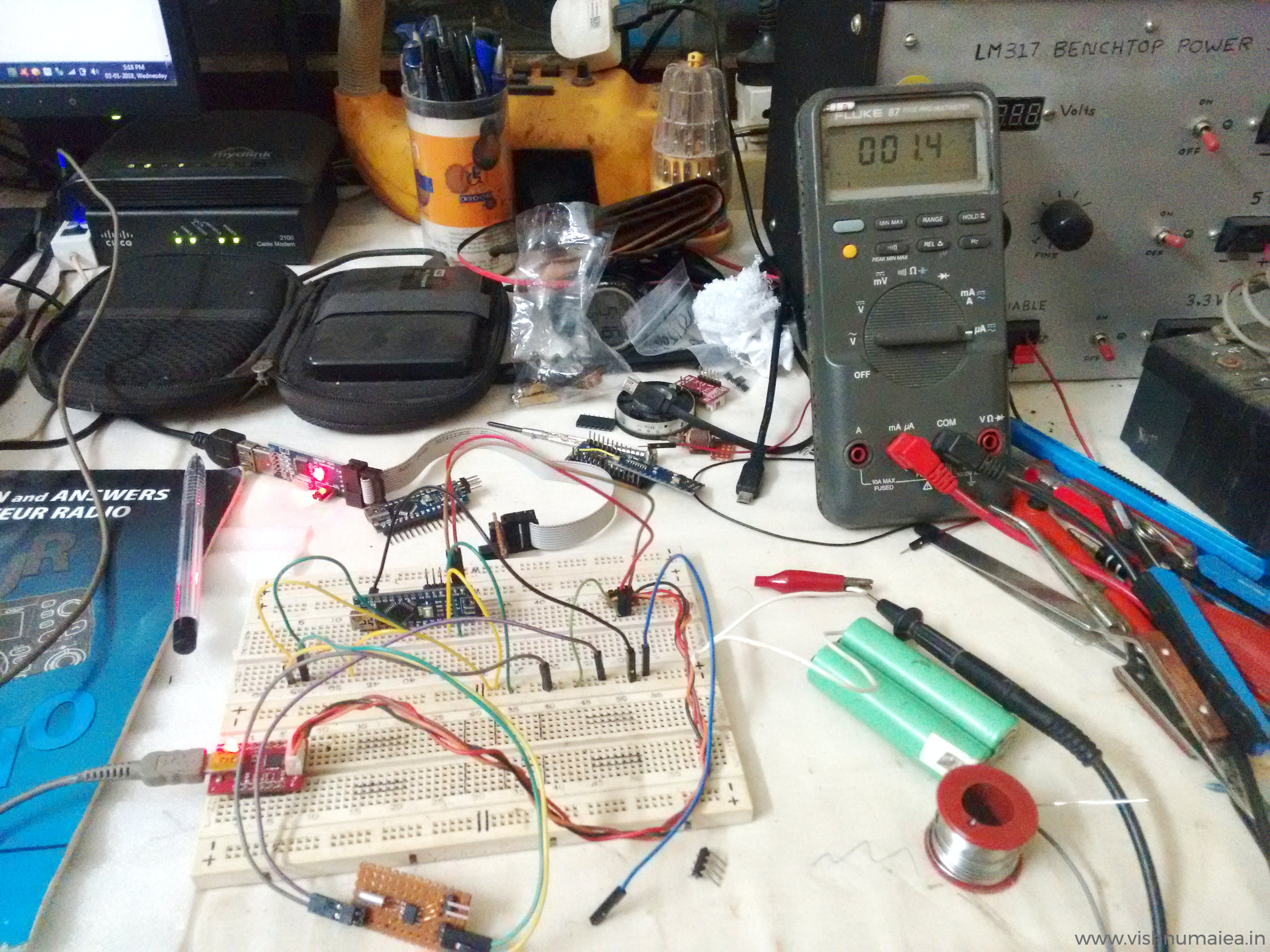 This is my table like when I was testing this - all basic stuff!