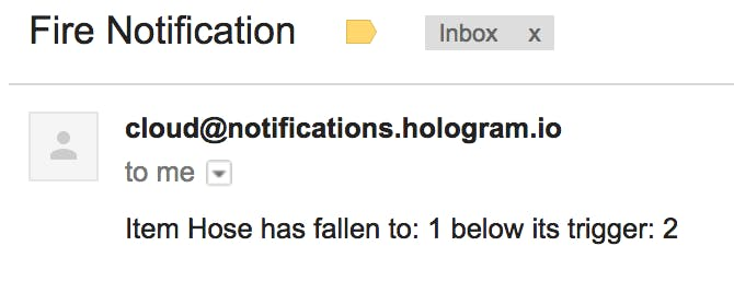 Hologram notification