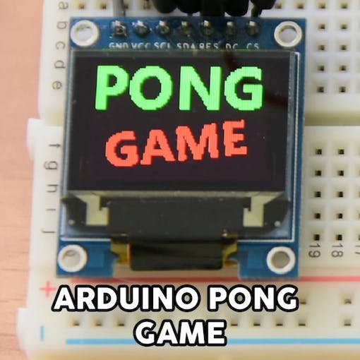 Arduino pong game oled display project hub