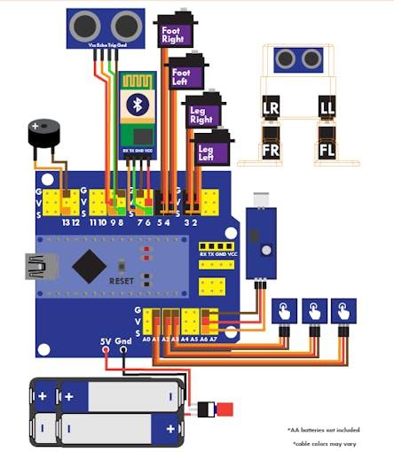 Otto diy arduino bluetooth robot easy to d print