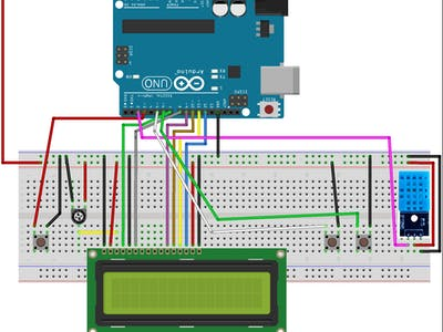 Clock without using RTC in Arduino with Temperature and humi