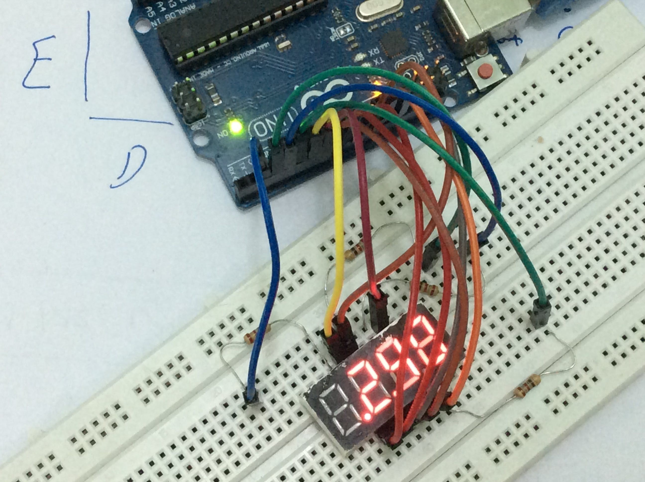 arduino/sevseg library on 4 digit common anode