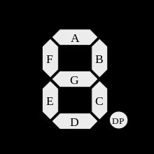 220px 7 segment display labeled gpehugj5is