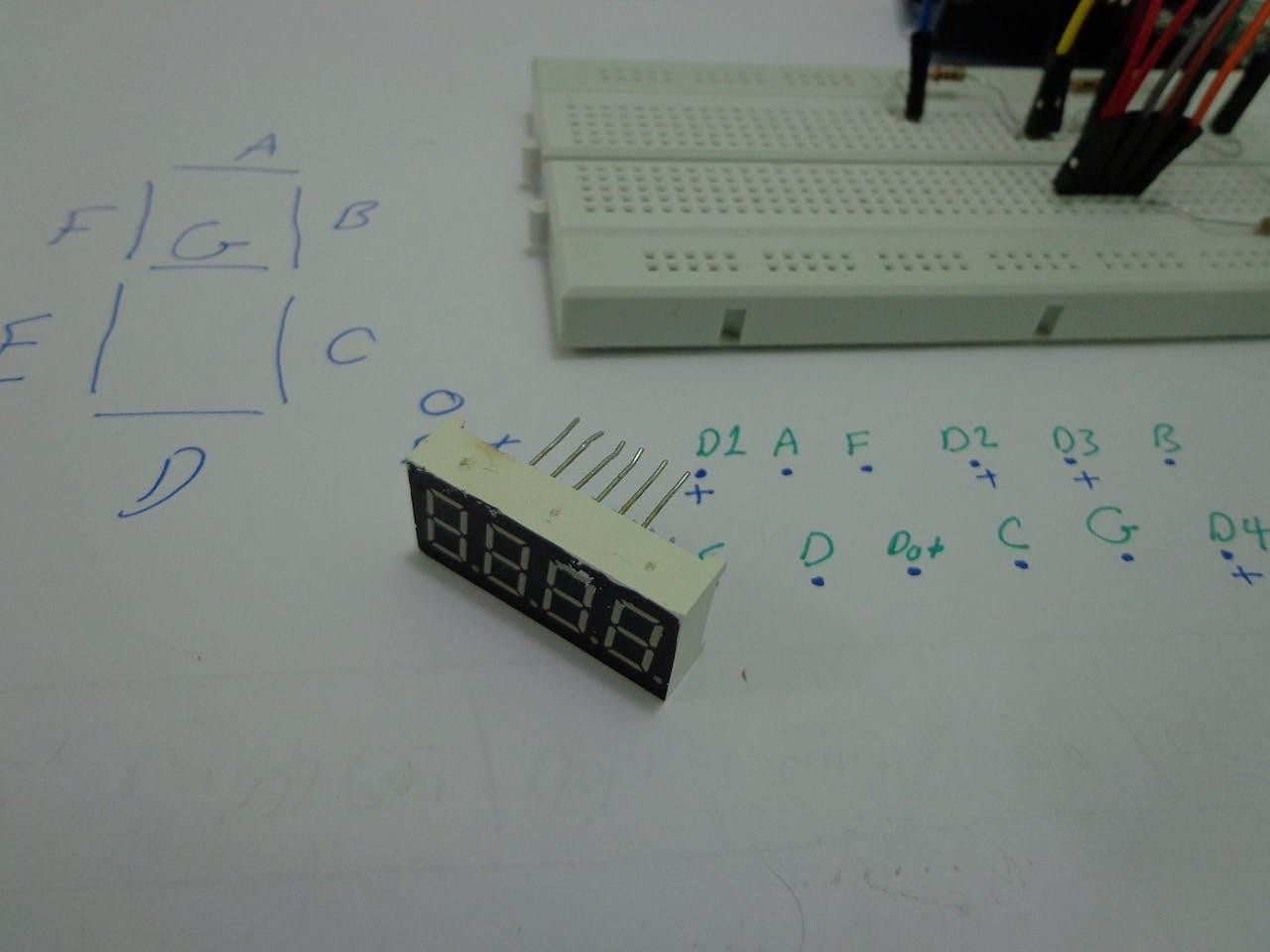Sevseg Library On 4 Digit Anode Segment Arduino Project Hub Led Tachometer Circuit