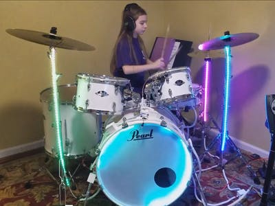 Animated LED Drum Set Lights - Arduino, NeoPixels, Trinket