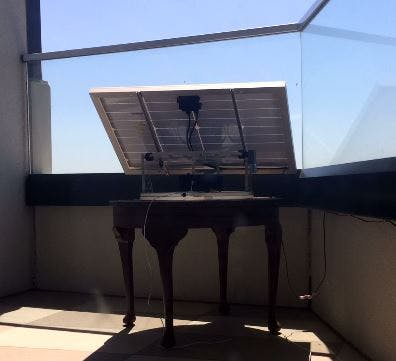 Sun-Tracking Mechanism for 40W solar panel