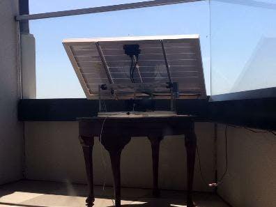 Sun-Tracking Mechanism for 40W solar panel