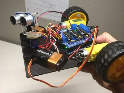Ground-Based Obstacle Avoiding Robot