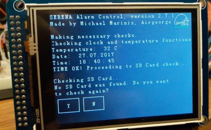 SERENA's boot screen.