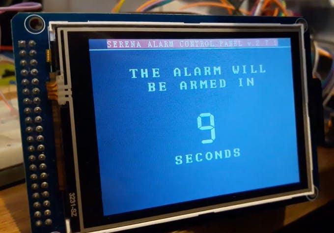 The auto-arm screen.