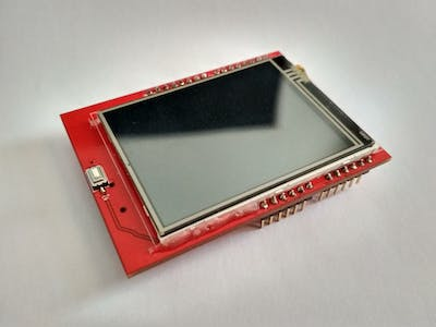 Arduino UNO + 2.4 TFT LCD Display Shield Touch Panel ILI9341